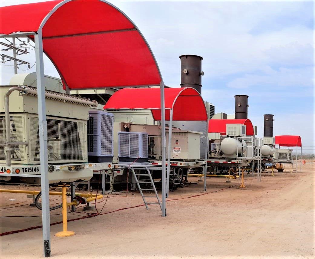 #instalación de equipos de #enfriamiento evaporativo tipo #portacool de centinela para bajar la temperatura en sistemas de #generación por #turbina.
